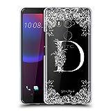 Head Case Designs Ufficiale Nature Magick Lettera D Monogramma Floreale Bianco 1 Cover in Morbido Gel Compatibile con HTC U11 Eyes