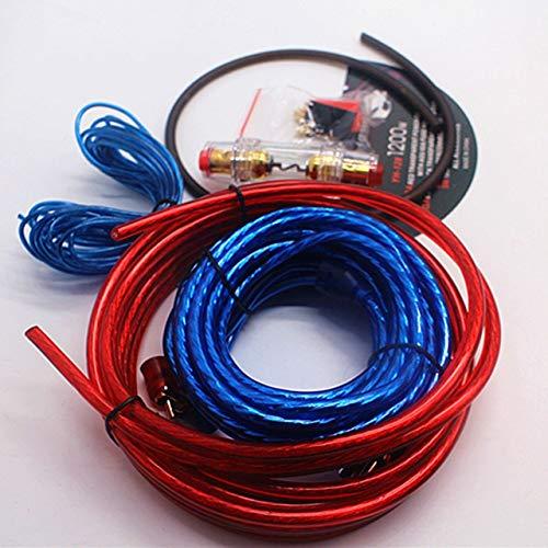 Jasnyfall 1 Satz Auto Audio Verbunden 8 Gauge Amp Draht Verdrahtung Verstärker Subwoofer Lautsprecher Installation Kit Netzkabel Sicherungshalter (Multicolor) (Auto-audio-subwoofer-draht)