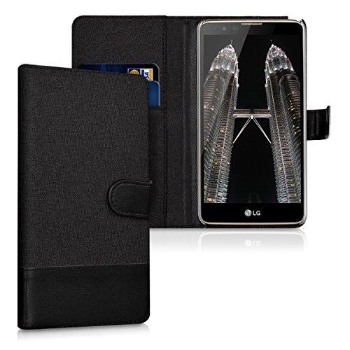 kwmobile LG Stylus 2 Hülle - Kunstleder Wallet Case für LG Stylus 2 mit Kartenfächern und Stand
