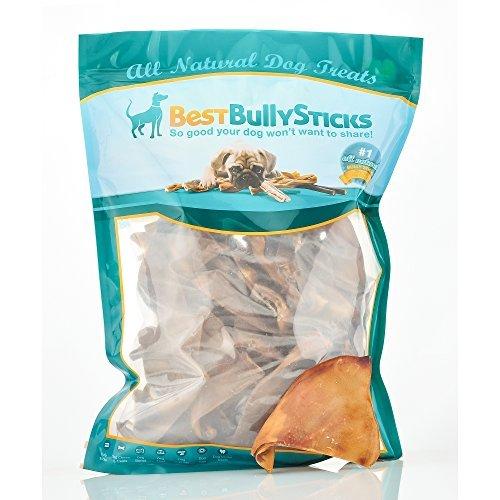 Half-Cut Pig Ear Dog Treats by Best Bully Sticks (50 Count Value Pack) by Best Bully Sticks
