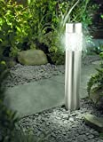 Solarleuchte mit Bewegungsmelder Solar Gartenleuchte Glas Edelstahl 56 cm