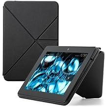 Custodia Amazon Origami in poliuretano con stand per Kindle Fire HDX (3ª generazione - modello 2013), Nero - 1 Nero Modello