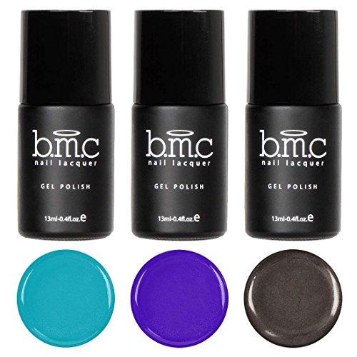 BMC Super Cute 3pc Mosaic Glass Clear Blendable Sheer Tints UV/LED Soak Off Gel Polish - Set 1