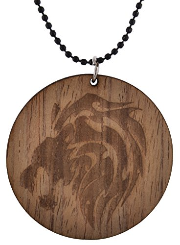 Modish Look Brown Wooden Pendant Sun-Sign and Horoscope Locket Unisex Jewellery (Leo)