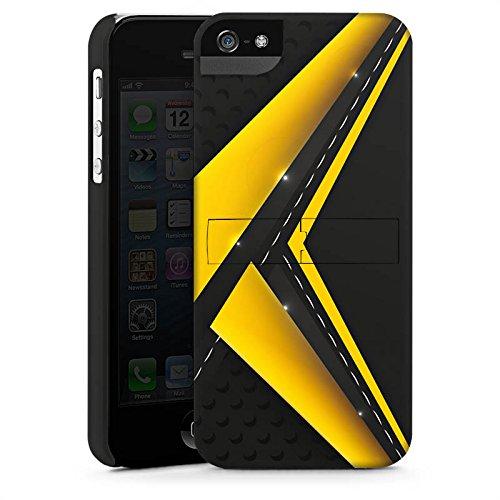 Apple iPhone 5s Housse Outdoor Étui militaire Coque Noir jaune Motif Motif CasStandup blanc