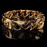 Anvi-Jewellers-18CT-Gold-And-Rohdium-Coated-Mens-Bracelet-At-Special-Raksha-Bandhan-Offer