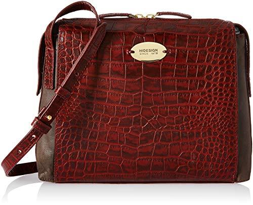 Hidesign Women's Handbag (Red Brown)