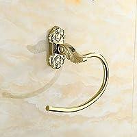 Leone d'oro anello zirconio zinco placcato oro lega in acciaio inox asciugamano anello di tovagliolo
