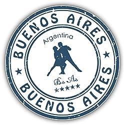 Buenos Aires Argentina Grunge Stamp Auto-Dekor-Vinylaufkleber 12 X 12 cm