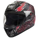 Steelbird Helmet SBA-1 Free Live with Smoke Visor and Matt Finish (Medium, Black and Red)