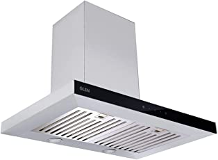 Glen Electric Kitchen Chimney 6056 Touch Sensor 60cm 1250 m³/h, Baffle Filter with Life Time Warranty