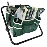 Frostfire Essential Garden 7 Piece Tool Kit with Storage Bag and Stool
