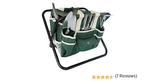 Frostfire Essential Jardin 7/pi/èces Kit doutils avec sac de rangement et tabouret