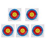 MagiDeal Bogenzubehör / Zielscheiben Set mit 5 Scheiben - Bogenschießen Zielscheibe Papier - 43 x 43cm