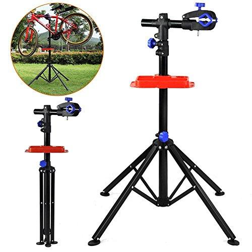 Yaheetech 360° drehbar Reparaturständer 50 kg Unterstützt Fahrrad Montageständer Werkzeugständer verstellbar