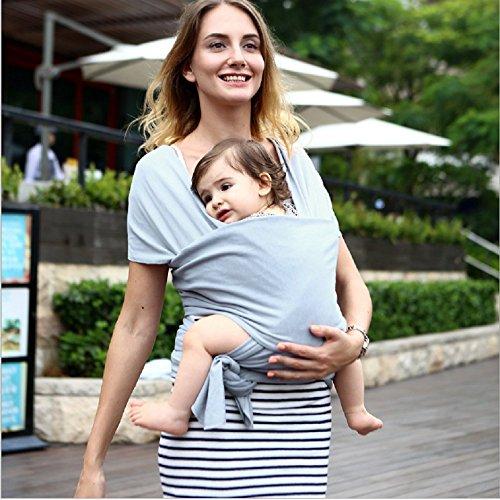 Baby Tragetuch Neugeborene, Tragetuch baby reine Baumwolle Tragfähigkeit 20KG Elastisches Atmungsaktiv Babybauchtrage Baby wrap für Neugeborene Kleinkinder