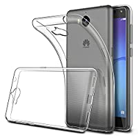 Huawei Y6 2017 Case, Simpeak Soft TPU Transparent Fit Protector Case for Huawei Y6 2017 5.0