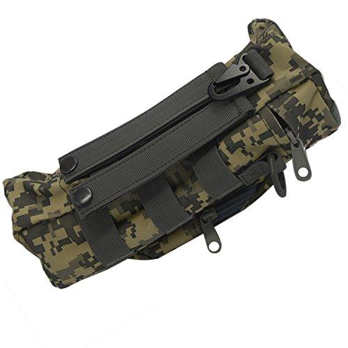 Im Freien Sport Tactical Gear Nylon Molle Zipper Camo große Flasche Wasser Tasche Wasserkocher Pack w / Dienstprogramm Medic kleine Durcheinander Pouch Grau
