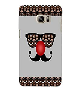 PrintDhaba Mustache D-4915 Back Case Cover for SAMSUNG GALAXY NOTE 5 (Multi-Coloured)