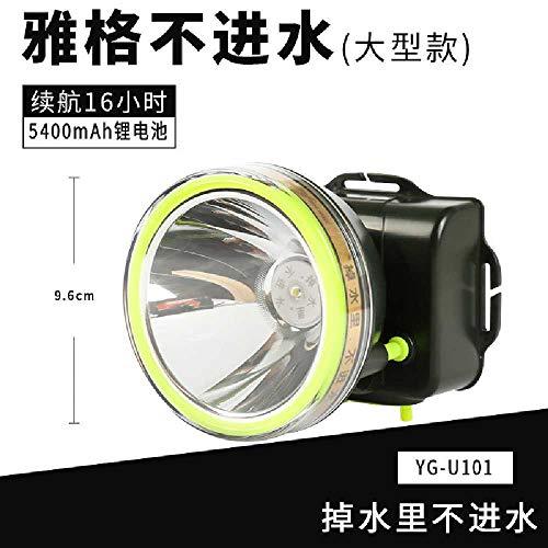jiahao Yage Scheinwerfer Wiederaufladbare Lithium-Batterie LED Blendung Super Helle Outdoor-Langstrecken-Schaum Wasserdicht Nacht Reiten Angeln Headset 3W YG-U101 -