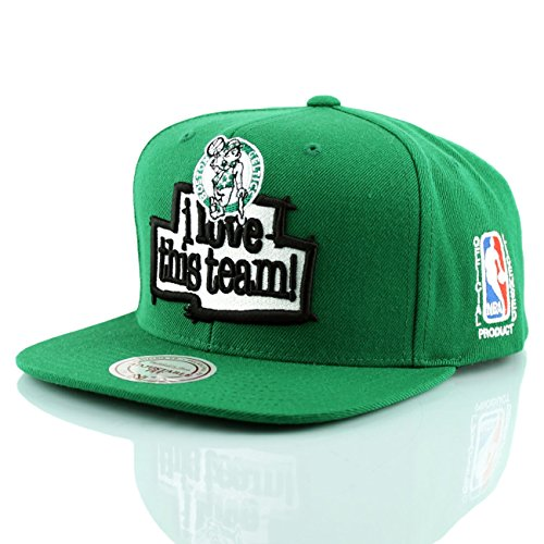 Mitchell & Ness Boston Celtics I Love This Team Snapback NBA Cap Grün