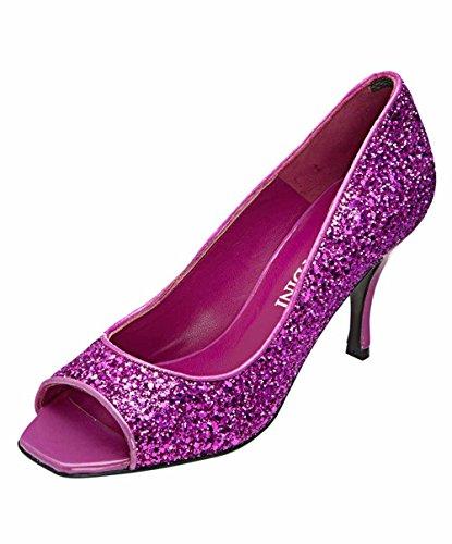 Patrizia Dini - Zapatos De Punta Abierta De Mujer Rosa (rosa)