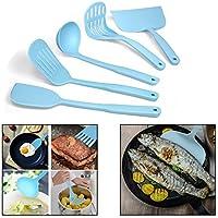 Itian 5 piezas de silicona utensilios de cocina, de utensilios de cocina de silicona Juego de Cocina de Herramientas con