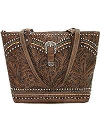 59b187f92425 American West Leather Shoulder Handbag Bundle w Keychain Purse Light-