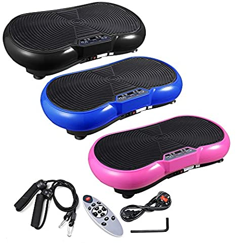 ReaseJoy 500W Vibration Plate Crazy Fit Massage Exercise Machine Oscillating Platform Blue