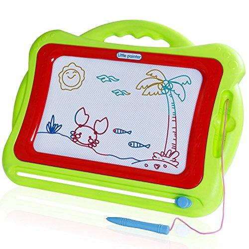 SGILE Pizarras Mágicas Multicolor con Pluma Tablero de Dibujo Magnético Infantil Magnético Juguetes Educativos para Niños, Verde