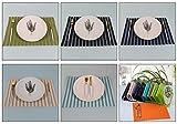 FERZA Home PVC-Isolierung Rutschfeste Westernfutterschüsselschüsselmatte Tischmatte Einfacher Westernstil westliche Tischmatte ohne Wasser waschen (Color : SPD-03-9) - 4
