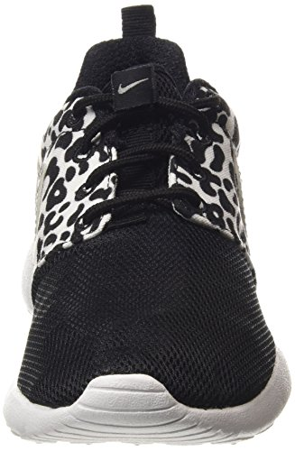 Nike Roshe One Print (Gs), Chaussures Multisport Indoor mixte enfant Noir (black 002)