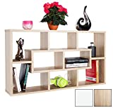 RICOO Wall Shelves Bookcase WM050-ES Wood 2 3 Tier Floating Book Storage Hanging Rack Organiser Unit Racking Shelf/Sonoma Oak Effect Brown