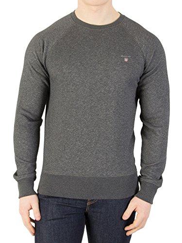 GANT Herren Strickjacke Original C-Neck Sweater Grau