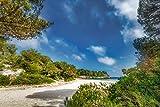 Voss Fine Art Photography Schöne Bahía con Playa en la Isla de Menorca en la luz del Sol, Vidrio acrílico Sobre Soporte Dibond, 60 x 40 cm