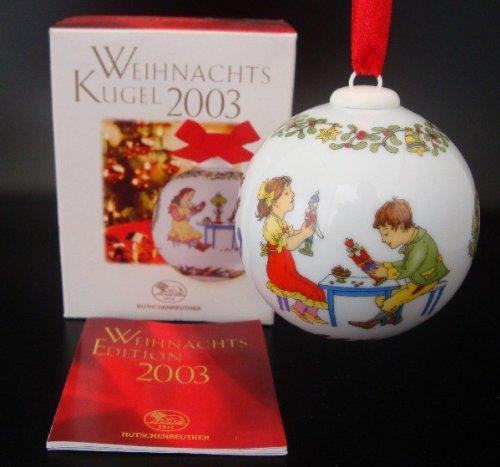 Hutschenreuther Weihnachtskugel 2003*Rarität, Porzellankugel, Baumanhänger, Anhänger, Baumschmuck, Weihnachten -