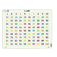 Larsen AR10 Math Puzzle: Numbers from 1 to 100, Jigsaw Puzzle with 100 Pieces