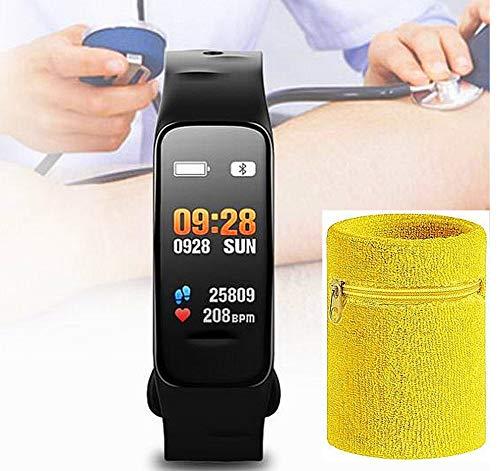 Atlanta Fitness Tracker mit Puls Blutdruck Sauerstoff Farbdisplay Smartwatch mit Schweißband 9702 SB
