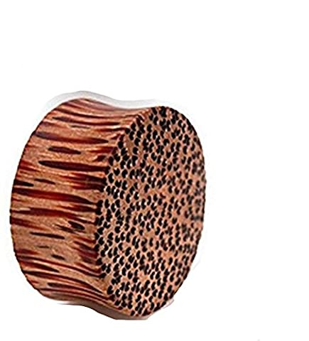 1 x 16mm Natural Organic Coco Coconut Wood Solid Ear Tunnel Saddle Plug Piercing Finest Quality