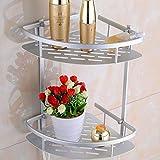 Aluminio Ducha Esquina estantes, 2pisos o 4niveles soporte de pared para inodoro estante estantes pared baño...