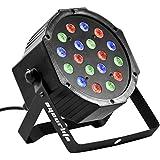 Eyourlife Par LED DMX 512 Par LED 64 Par LED RGB 54W/18x3W Lumière de Scène Soirée Disco DJ Club EU Prise