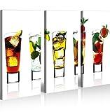 Quadro moderno Bevande Cocktail Bar Tavernetta Stampa su tela - Quadro x poltrone salotto cucina mobili ufficio casa - fotografica formato XXL