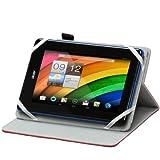 Navitech housse étui rotatif avec support intégral, idéal pour Gigaset QV830 tablette tactile 8 pouces (rouge)