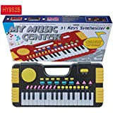 Meiyiu 31 Keys Kids Baby Musical Toys Children Musical Portable Instrument Electronic Piano Keyboard Educational Toys Black