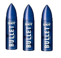 Layerr Shot Bullet Bang, Deodorant For Men ( pack of 3 )