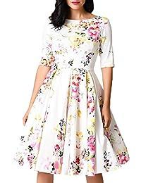 Toocool - Abito donna vestito pinup anni  50 rockabilly fiorato elegante nuovo  DL-2155 b5381d320a0