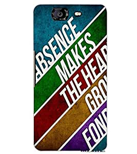 MICROMAX A350 CANVAS KNIGHT TEXT Back Cover by PRINTSWAG
