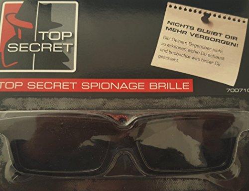 TOP SECRET Spionagebrille/ Spionage Brille, Agenten Brille, Spy Glasses - Nichts bleibt dir mehr verborgen! Gib Deinem Gegenüber nicht zu erkennen wohin Du schaust und beobachte was hinter Dir geschieht