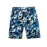 LAPLBEKE Jungen Badehose Camo Badeshorts Urlaub Strand Camouflage Shorts