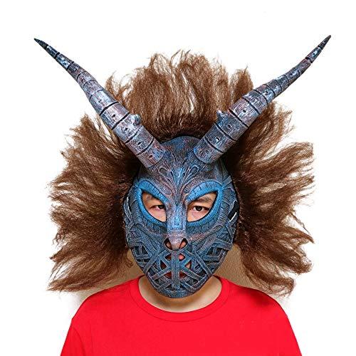 Cheetah Kostüm - Nightghost Leopard Cheetah Panther Maske, Pferdekopf BoJack Reiter Kostüm spielt Helm, Halloween, Horror Perücke Film und Fernsehen Arbeiten Make-up Requisiten
